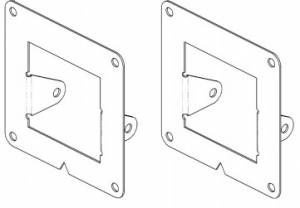 Bumpers - Bumper Accessories - Go Rhino - Bumper Light Plates (Surface Mount 3 Cube Lights) - 241742T