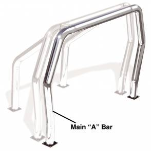 Truck Bed Accessories - Ladder/Headache Racks - Go Rhino - Go Rhino! Bed Bars - A Additional Bar - 94001C