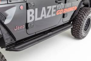 Dominator DS Sliders w/ Optional Removeable Step Pads, Black Powdercoat Finish  - DS4927T