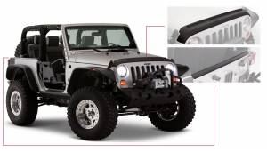 Body Armor & Sliders - Body Protection Kits - Bushwacker - Jeep Trail Armor Hood&Tailgt - 14013