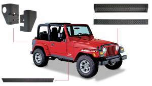 Body Armor & Sliders - Body Protection Kits - Bushwacker - Jeep Trail Armor Six Piece - 14901