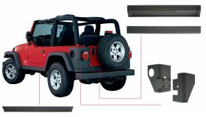 Body Armor & Sliders - Body Protection Kits - Bushwacker - Jeep Trail Armor Six Piece - 14902