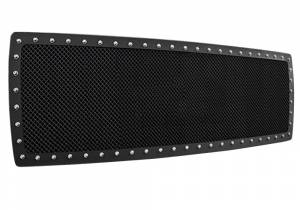 Exterior - Grilles - N-Fab - Accessories/Jeep Gear; N-FAB Wire Mesh Grille; Textured Black - J07MG1