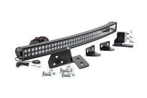 Lighting - Grille Light Kits - Rough Country - 40-inch Black Series Dual Row CREE LED Light Bar and Hidden Bumper Mounts Kit - 70682