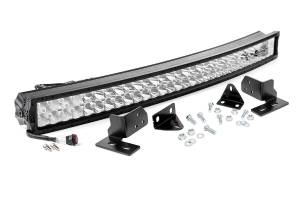 Rough Country - 40-inch X5 Series Dual Row CREE LED Light Bar and Hidden Bumper Mounts Kit - 70683
