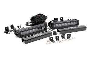 Exterior - Grilles - Rough Country - Dual 8-inch Black Series CREE LED Grille Lights Kit (2017 F250 Lariat) - 70697