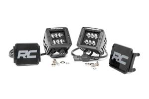 Light Pods - Light Pod Kits - Rough Country - 2-inch Black Series CREE LED Square Lights (Pair) - 70903BL