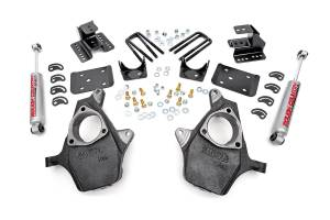 Suspension Components - Accessories & Hardware - Rough Country - Front 2-inch / Rear 4-inch Spindle Lowering Kit - 721.20
