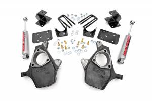 Suspension Components - Accessories & Hardware - Rough Country - Front 2-inch / Rear 4-inch Spindle Lowering Kit - 722.20