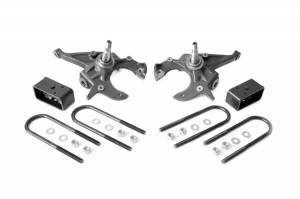 Suspension Components - Accessories & Hardware - Rough Country - Front 2-inch / Rear 3-inch Spindle Lowering Kit - 727