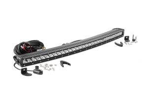 Rough Country - 30-inch Chrome Series Single Row Curved CREE LED Light Bar - 72730