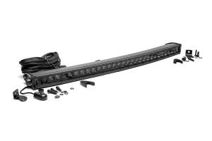 Rough Country - 30-inch Black Series Single Row Curved CREE LED Light Bar - 72730BL