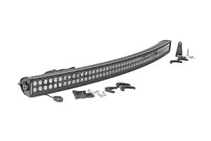 Rough Country - 50-inch Black Series Dual Row Curved CREE LED Light Bar - 72950BL
