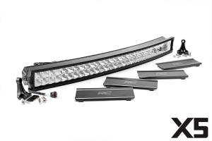 Lighting - Grille Light Kits - Rough Country - 40-inch Dual Row X5 Series Curved CREE LED Light Bar - 76240