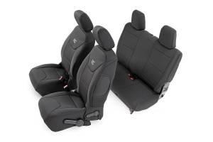 Interior - Seat Covers - Rough Country - Jeep Neoprene Seat Cover Set / Black (11-12 Wrangler JK / 2 Door) - 91006