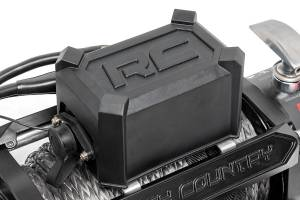 Exterior - Winches - Rough Country - 12,000-Lb PRO Series Electric Winch w/ Steel Cable - PRO12000