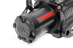 Exterior - Winches - Rough Country - 12,000-Lb PRO Series Electric Winch w/ Synthetic Rope - PRO12000S