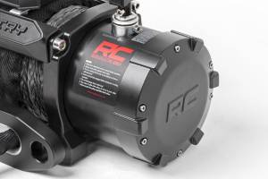 Exterior - Winches - Rough Country - 9,500-Lb PRO Series Electric Winch w/ Synthetic Rope - PRO9500S