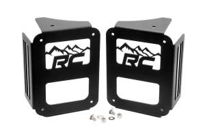 Tail Lights - Tail Light Accessories - Rough Country - Wrangler JK Tail Light Covers - Mountain Design (Pair) - 1078
