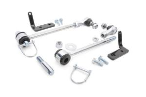 Suspension Components - Accessories & Hardware - Rough Country - Front Sway Bar Quick Disconnects for 3.5-6-inch Lifts - 1146