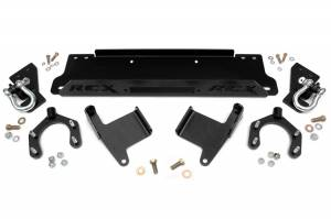 Winch & Recovery - Winch Mounts - Rough Country - Factory Bumper Winch Mounting Plate (Includes D-Rings) - 1173