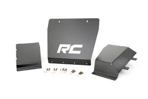 Body Armor & Sliders - Skid Plates - Rough Country - Heavy Duty Front Skid Plate Package - 222