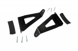 Light Bars - Light Bar Mounting Kits - Rough Country - 54-inch Curved LED Light Bar Upper Windshield Mounting Brackets (Ford F150) - 70518