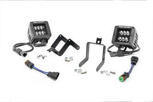 Rough Country - 2-inch Black Series CREE LED Fog Light Kit (Ford Super Duty) - 70622