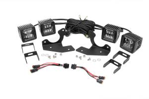 Lighting - Fog Lights - Rough Country - Dual 2in Black Series CREE LED Fog Lights and Mounts Kit (Chevrolet HD Pickups) - 70628