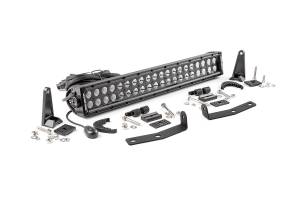 Lighting - Grille Light Kits - Rough Country - 20-inch Black Series Dual Row CREE LED Light Bar and Hidden Bumper Mounts Kit - 70645