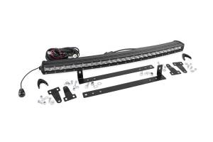 Lighting - Grille Light Kits - Rough Country - Single Row LED Light Bar Grille Mount w/30-inch Chrome Series CREE LED Light Bar - 70659