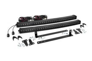 Lighting - Grille Light Kits - Rough Country - Dual Set Single Row LED Lt Bar Grille Mts w/30in Black CREE LED Light Bars - 70662