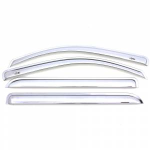Auto Ventshade (AVS) - CHROME VENTVISOR - 4PC SIDE WINDOW DEFLECTOR - 684819 - Image 2