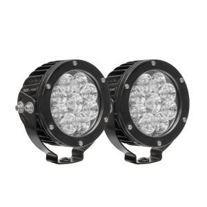 Lighting - Off Road Lights - Westin - LED Auxiliary Light 4.75 inch Round Flood w/3W Osram (Set of 2) - 09-12007B-PR