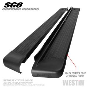 Westin - Black Aluminum Running Board 74.25 inches - 27-64725