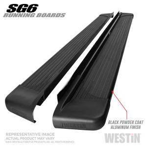 Westin - Black Aluminum Running Board 83 inches - 27-64765