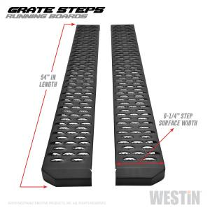 Westin - Textured Black Running Boards 54 inches - 27-74705