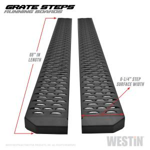 Westin - Textured Black Running Boards 68 inches - 27-74715