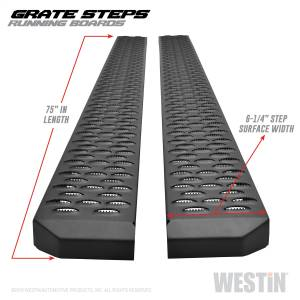 Textured Black Running Boards 75 inches - 27-74725