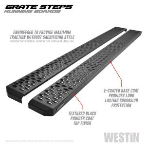 Westin - Textured Black Running Boards 79 inches - 27-74735