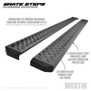 Westin - Textured Black Running Boards 90 inches - 27-74745