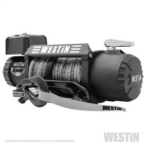 Exterior - Winches - Westin - 9;500 lb. 6.6hp; 12V Off-Road series waterproof winch with 3/8 inch synthetic ro - 47-2103