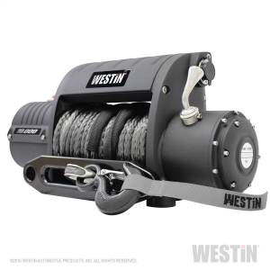 Exterior - Winches - Westin - 10;000 lb. 6.6hp; 12V Off-Road series Integrated winch with 3/8 inch synthetic r - 47-2200