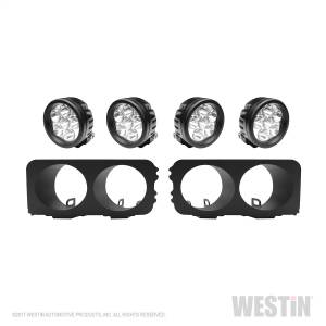 Lighting - Grille Light Kits - Westin - Round LED Light Kit for Outlaw Front Bumpers; includes 4 Round LED Auxilliary li - 58-9905