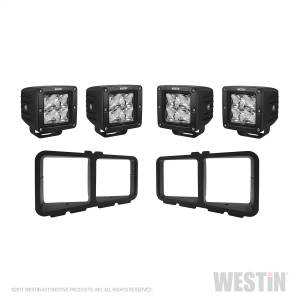 Lighting - Grille Light Kits - Westin - Square LED Light Kit for Outlaw Front Bumpers; includes 4 HyperQ LED lights and - 58-9915