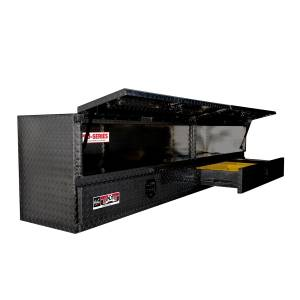 Truck Bed Accessories - Tool Boxes - Westin - Brute High Cap Stake Bed Contractor Box - 80-TB400-96D-BD-B