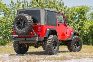 Rough Country - Jeep Classic Full Width Rear Bumper w/Tire Carrier (87-06 Wrangler YJ/TJ) - 10592A