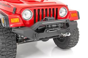 Rough Country - Jeep Full Width Front LED Winch Bumper (87-06 Wrangler YJ/TJ) - 10595