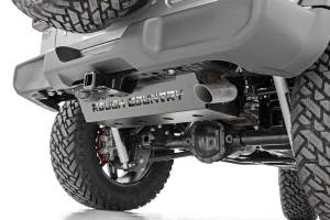Body Armor & Sliders - Skid Plates - Rough Country - Jeep Muffler Skid Plate (18-20 Wrangler JL) - 10599
