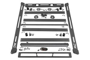 Roof/Luggage Racks - Roof Racks - Rough Country - Jeep Roof Rack System w/ Black-Series LED Lights (07-18 JK) - 10615